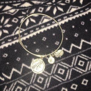 """""""A"""" alex and ani bracelet"""